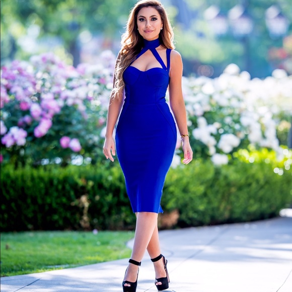 Dresses & Skirts - Dark blue bandage dress